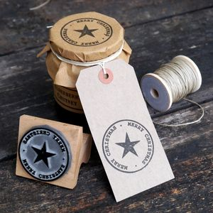 Christmas Star Stamp - cards & wrap