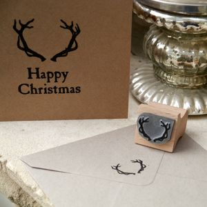 Antlers Rubber Stamp - cards & wrap