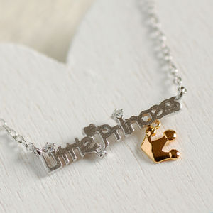 Sterling Silver Little Princess Necklace