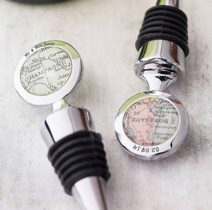 Personalised Map Wine Bottle Stopper