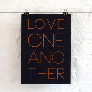 Love One Another Foil Print