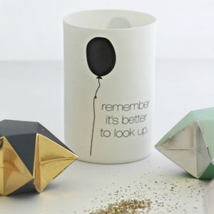 'Better To Look Up' Quote Votive - room decorations