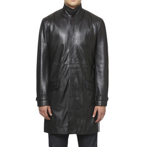 Chapel Leather Overcoat - coats & jackets