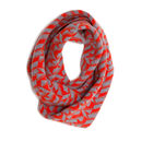 Grey + Red Metro Infinity Scarf