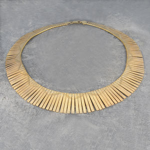 Art Deco Vintage Gold Statement Necklace - necklaces & pendants