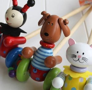 Wooden Push Along Dog Toy - toys & games