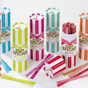 Dipstick Trivia Games - table decorations