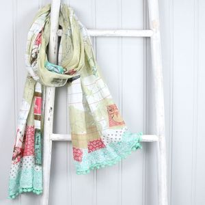 Bon Voyage World Scarf - for travel-lovers