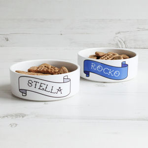 Personalised Pet Bowl Banner - treats & food