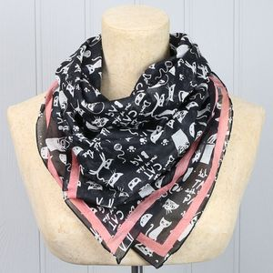 'Daydream' Don't Let The Cat Out Of The Bag Black Scarf