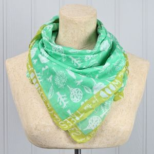 'Daydream' Can't See The Wood For The Trees Green Scarf - scarves