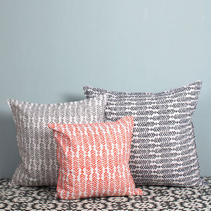 Cushion, Aztec Hand Block Print - decorative accessories