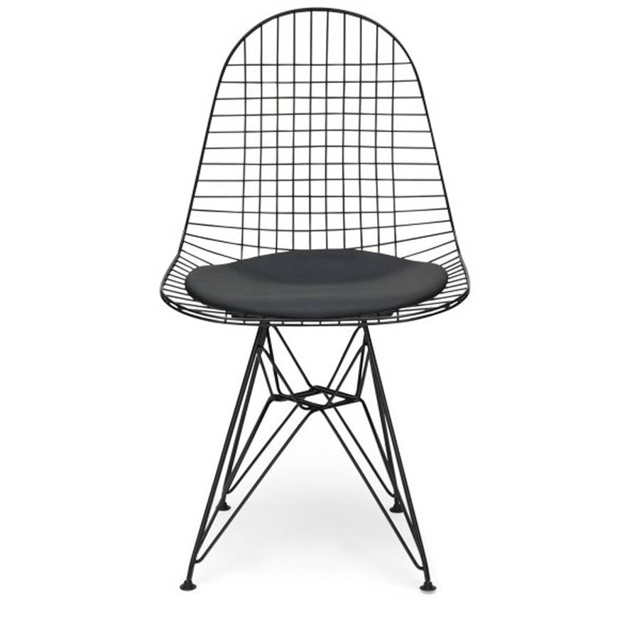 Chair metal eames style dkr wire mesh office chair by ciel for Metal design chair