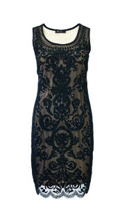 Ellie Beaded Dress With Nude Lining - women's fashion