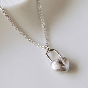 Sterling Silver Heart Padlock Necklace