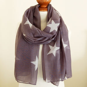Grey Star Scarf - hats, scarves & gloves