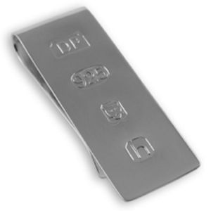Sterling Silver Hallmarked James Bond Money Clip