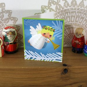 Angel Honeycomb Christmas Card - cards & wrap