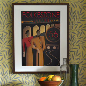 'Folkestone To London' Art Print