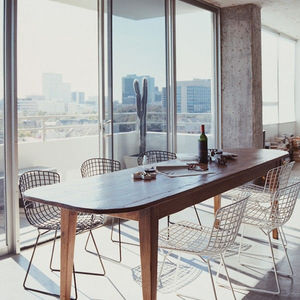 A Black Metal Dining Chair, Also In Silver Or White - dining room