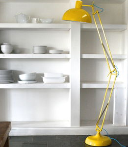 Acid Yellow Angled Floor Lamp - office & study