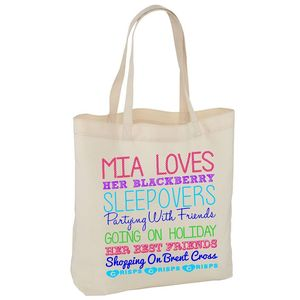 Personalised Large Tote Bag - shoulder bags