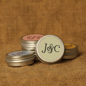 Personalised Monogram Lip Balms