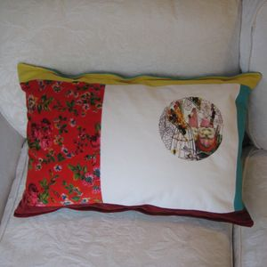 Patch Work Digital Printed Cushion - cushions