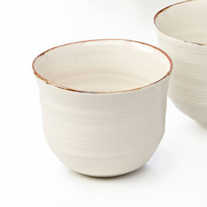 Ceramic Porcelain Bronze Lustre Rim Coffee Cup