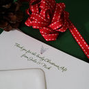 Personalised Christmas Thank You Cards