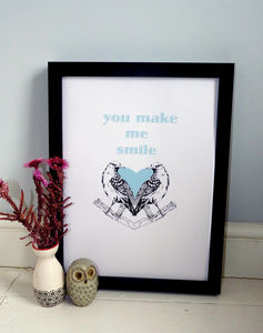 'You Make Me Smile' Love/Valentines Print