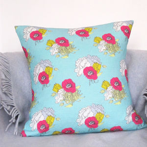 Summer Bloom Linen Cushion - cushions