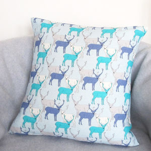 Oh Deer Linen Cushion - last-minute christmas decorations