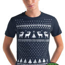 Glow In The Dark Mens Christmas Reindeer T Shirt