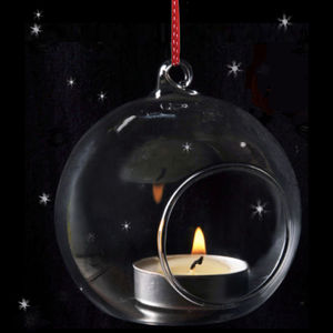 Christmas Tealight Glass Bauble - christmas decorations