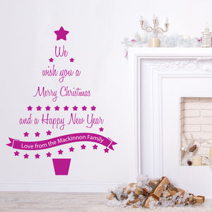 Personalised Christmas Tree Wall Sticker - home accessories
