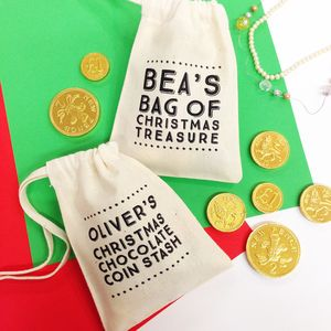 Personalised Typographic Mini Gift Bag - wrapping