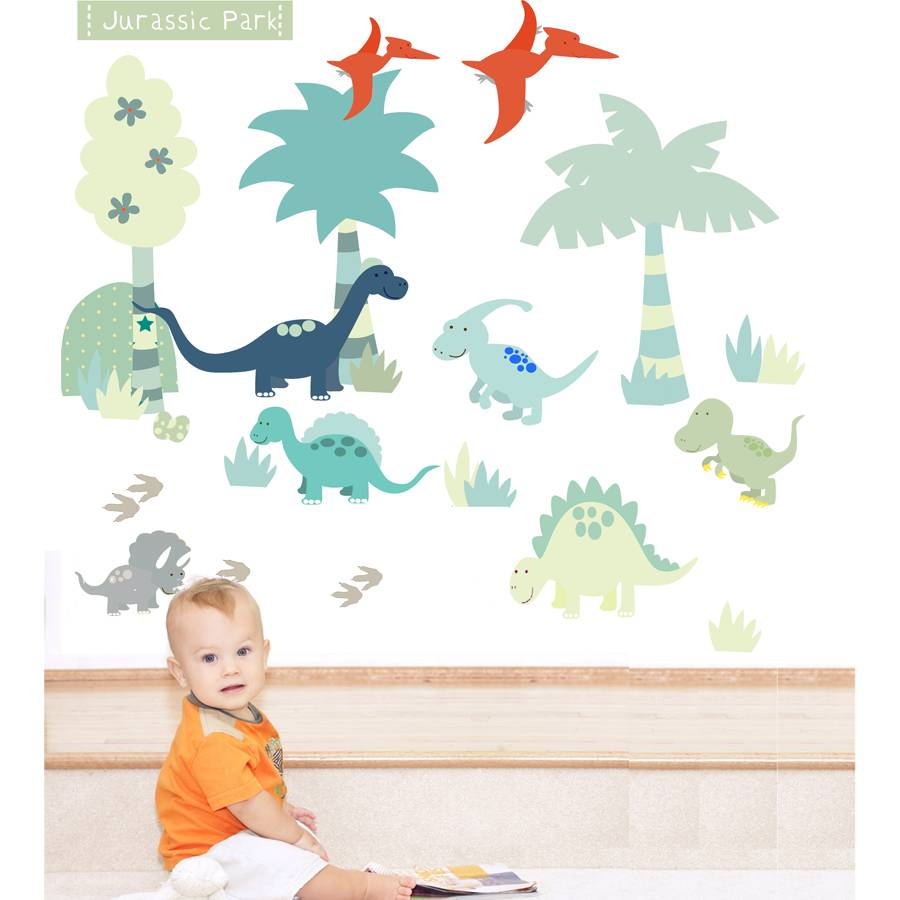 Dinosaur Fabric Wall Stickers By Littleprints