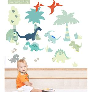 Dinosaur Fabric Wall Stickers - living room