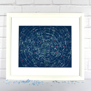 Constellations Star Map Print - posters & prints