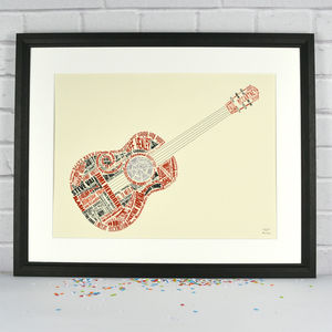 Guitar Legends Print - music