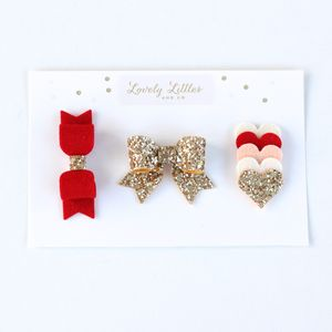 Tallulah Red Collection Hair Clip Set - hair accessories