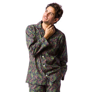 Men's Paisley Pyjamas - men's fashion