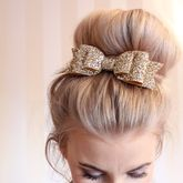 Oversized Glitter Hair Bow - accessories