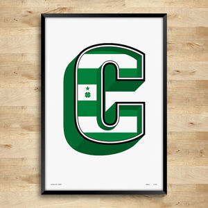 Celtic F.C. Typography Posters, Limited Edition