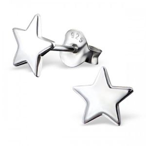 Star Earrings In Sterling Silver - christmas clothing & accessories