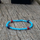 Turquoise Ruby And Sapphire Friendship Bracelet