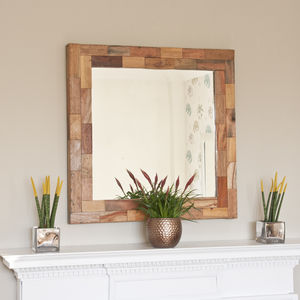 *Sale: Save 50%* Natural Boatwood Patchwork Mirror - mirrors