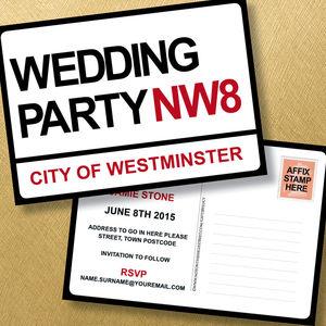 London Theme Wedding Invitation