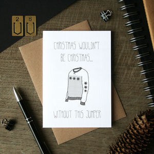 Christmas Jumper Card - cards
